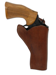 "New Brown Leather Cross Draw Gun Holster for 4"" Revolvers (#CR4BR)"