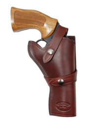 "New Burgundy Leather Western Style Gun Holster for 4"" Revolvers (#45-4BU)"