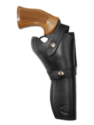"New Black Leather Western Style Gun Holster for 6"" Revolvers (#45-6BL)"