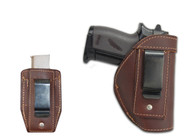 New Brown Leather Inside the Waistband Gun Holster + Single Magazine Pouch for Mini/ Pocket 22 25 32 380 Pistols (#C68/4sBR)