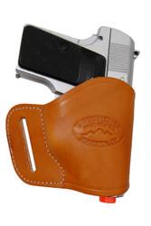 New Saddle Tan Leather Yaqui Gun Holster for Mini/ Pocket 22 25 32 380 Pistols (#19MST)