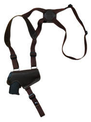 New Brown Leather Horizontal Thumb-break Shoulder Gun Holster for 380 Ultra Compact 9mm 40 45 Pistols (TB13BR)