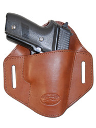 New Brown Leather Pancake Belt Slide Gun Holster for Full Size 9mm 40 45 Pistols (#222/5BR)