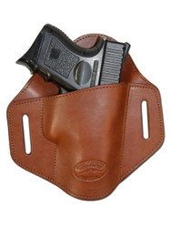 New Brown Leather Pancake Belt Slide Gun Holster for Compact Sub Compact 9mm 40 45 Pistols (#222/4BR)