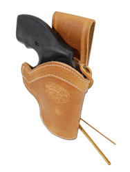 """New Saddle Tan Leather Western Style Hip Gun Holster for 2"""" Snub Nose 22 38 357 41 44 Revolvers (#0WN2ST)"""