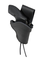 """New Black Leather Western Style Hip Gun Holster for 2"""" Snub Nose 22 38 357 41 44 Revolvers (#0WN2BL)"""