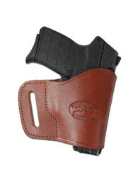 New Burgundy Leather Yaqui Gun Holster for Small 380 Ultra Compact 9mm 40 45 Pistols (#19BU)