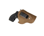 """New Olive Drab Leather Inside the Waistband Gun Holster for 2"""", Snub Nose .38 .357 Revolvers (#68-8OD)"""