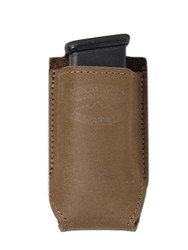 New Olive Drab Leather Single Magazine Pouch (#COD1MAG)