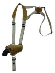 "New Olive Drab Leather Horizontal Cross Harness Shoulder Gun Holster for 2"" Snub Nose Revolvers (63/2OD)"
