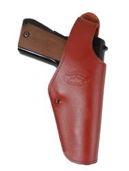 New Burgundy Leather OWB Side Gun Holster for Full Size 9mm 40 45 Pistols (#15BU)