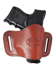 New Burgundy Leather Belt Quick Slide Gun Holster for Compact Sub-Compact 9mm 40 45 Pistols (#108CBU)