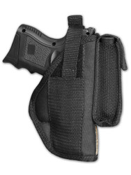 New OWB Belt Gun Holster with Magazine Pouch for Compact Sub-Compact 9mm 40 45 Pistols with LASER (#22-2L)