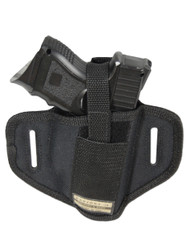 New Ambidextrous Pancake Gun Holster for Compact Sub-Compact 9mm 40 45 Pistols with LASER (#34L)