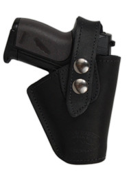 New Black Leather OWB Belt Gun Holster for Mini .22 .25 .32 .380 Pistols with LASER (#L10BL)
