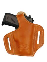 New Saddle Tan Leather Pancake Gun Holster for Mini/Pocket .22 .25 .32 .380 Pistols with LASER (#L57sST)