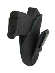 New Black Leather Tuckable IWB Holster for Small 380, Ultra Compact 9mm 40 45 Pistols (TU68-4BL)