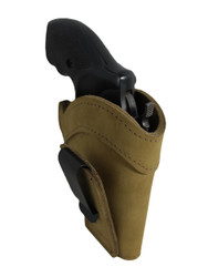 "New Olive Drab Leather Tuckable IWB Holster for Snub Nose 2"" 22 38 357 41 44 Revolvers (TU68-8OD)"