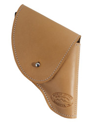 "New Natural Tan Leather Flap Holster for Snub Nose 2"" 22 38 357 41 44 Revolvers (#FL2NT)"