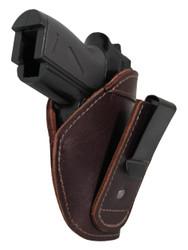 New Burgundy Leather Tuckable IWB Holster for Mini/Pocket .22 .25 .380 Pistols (TU68-4sBU)