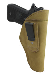 New Olive Drab Leather Tuckable IWB Holster for Full Size 9mm .40 .45 Pistols (TU68-32OD)