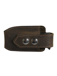 New Brown Leather Horizontal Single Magazine Pouch (#HBR1MAG)