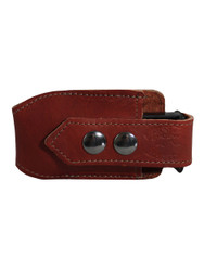 New Burgundy Leather Horizontal Single Magazine Pouch (#HBU1MAG)