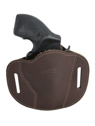 "New Brown Leather Pancake Belt Slide Gun Holster for 2"" Snub Nose Revolvers (#56BR)"