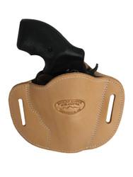 "New Natural Tan Leather Pancake Belt Slide Gun Holster for 2"" Snub Nose Revolvers (#56NT)"