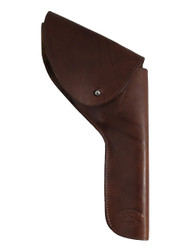 "New Brown Leather OWB Flap Holster for 6"" Revolvers (FL6BR)"