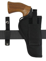 ambidextrous revolver holster with belt clip or loop options