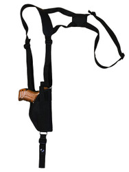 New Vertical Cross Harness Gun Shoulder Holster for Compact Sub-Compact 9mm 40 45 Pistols (#22VER)