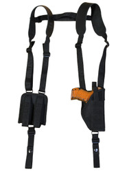 New Vertical Shoulder Holster with Double Magazine Pouch for Compact 9mm 40 45 (#NY22VER)