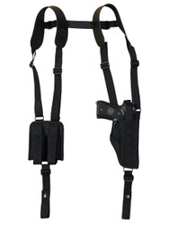New Vertical Shoulder Holster with Double Magazine Pouch for Full Size 9mm 40 45 (#NY32VER)