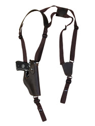 New Brown Leather Vertical Shoulder Holster for Full Size 9mm 40 45 Pistols (#32VERBR)
