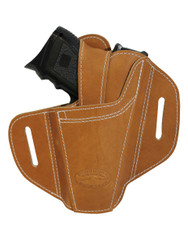New Ambidextrous Tan Leather Pancake Holster for Compact Sub-Compact 9mm 40 45 Pistols (#34ST)