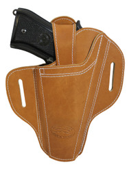 New Ambidextrous Tan Leather Pancake Holster for Full Size 9mm 40 45 Pistols  (#33ST)