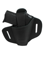 New Ambidextrous Black Leather Pancake Holster 380, Ultra Compact 9mm 40 45 (#34-1BL)