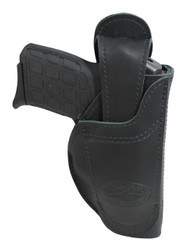 New Barsony 360Carry Black Leather 12 Option OWB IWB Cross Draw Holster for 380 Ultra Compact 9mm 40 45 (#360C-42BL)