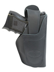 New Barsony Black Leather 360Carry 12 Option OWB IWB Cross Draw Holster for Compact 9mm 40 45 (#360C-22BL)