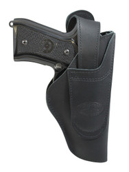 New Barsony Black Leather 360Carry 12 Option OWB IWB Cross Draw Holster for Full Size 9mm 40 45 (#360C-32BL)