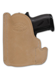 New Natural Tan Leather Concealment Pocket Gun Holster for Mini/Pocket .22 .25 .380 .32 Pistols (PO49NT)