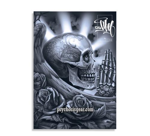 Pray Skull Sticker