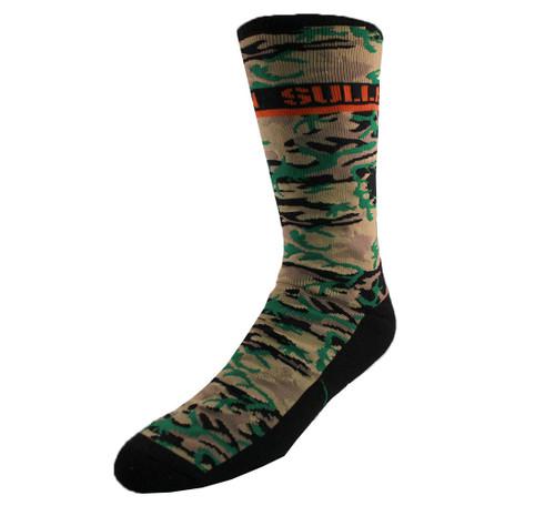 Sullen Hunted Socks Green Camo