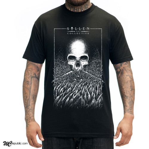 Sullen Grass Skull T-Shirt in black.