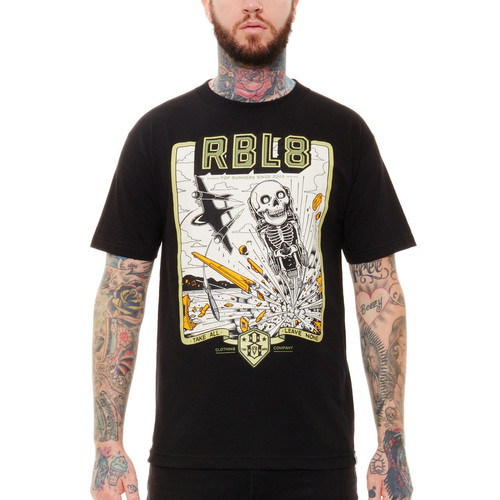 Rebel8 Top Gunner T-Shirt in black