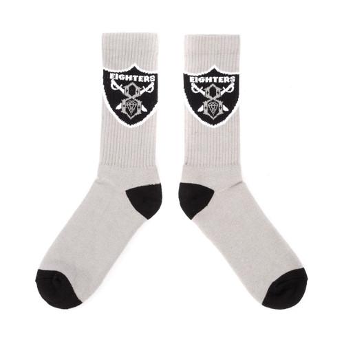 Rebel8 Eighters Socks Grey/Black