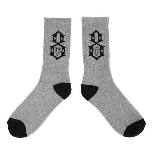Rebel8 Charcoal Logo Socks