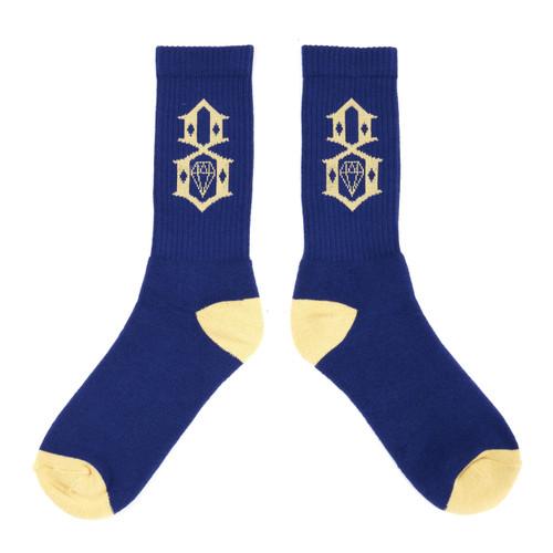 Rebel8 Navy Khacki Logo Socks