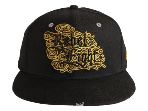 Rebel8 Gold Fitted Hat